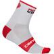 Castelli Rossocorsa 9 Socks Unisex white/red